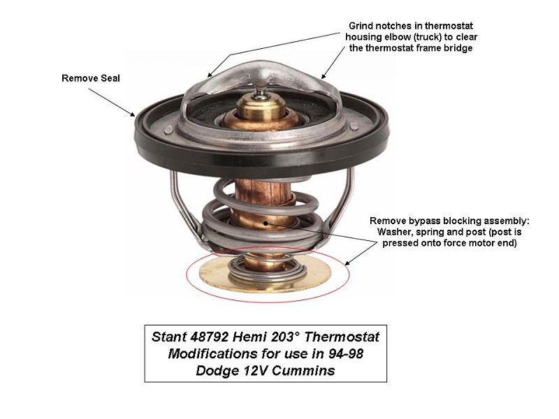 203 Degrees thermostat Mod Dodge 12V