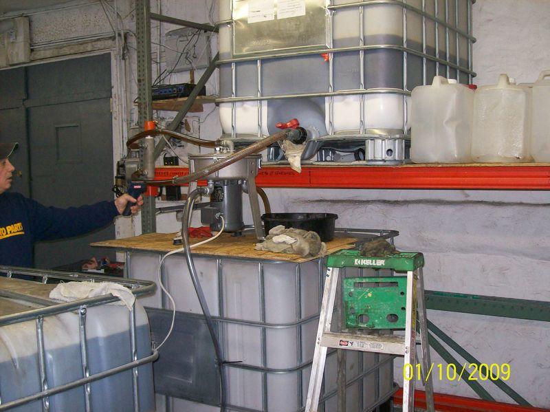 WVO Centrifuge Tote Setup 3