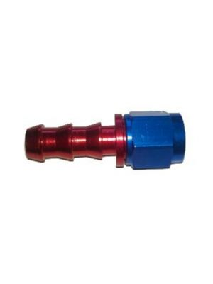 Aluminum Hose Fitting Straight Swivel #6 JIC to 5/16 Hose Barb
